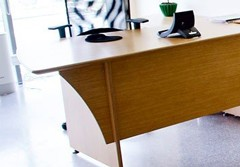 Plywood office furniture - collection ART office desk, conference table and chair UK