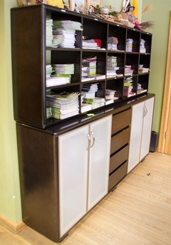 Plywood office furniture - collection Gemo filling cabinet