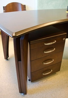 Plywood office furniture - collection VIP office table. Chair