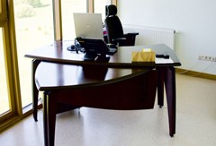 Plywood office furniture - collection VIP office table and additional table.