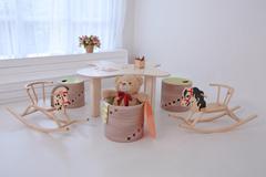 Bērnu mēbeļu komplekts no bērza saplākšņa