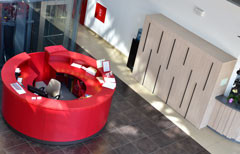 Reception desk, wardrobe and bar desk by individual project