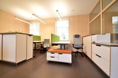 Height adjustable tables, filing cabinets, filing cabinet on wheels