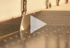 The process of plywood panel cutting - video