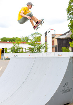Skateboarding ramps - made of birch plywood
